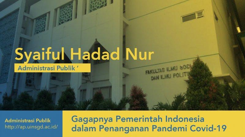 Gagapnya Pemerintah Indonesia dalam Penanganan Pandemi Covid-19